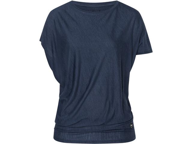 super.natural Yoga Camiseta suelta Mujer, blue iris melange